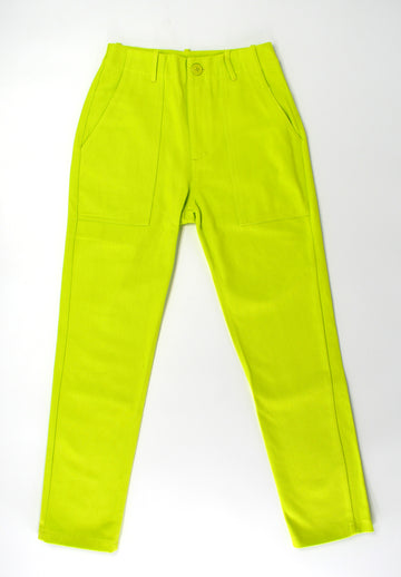 Lime Cotton Trousers