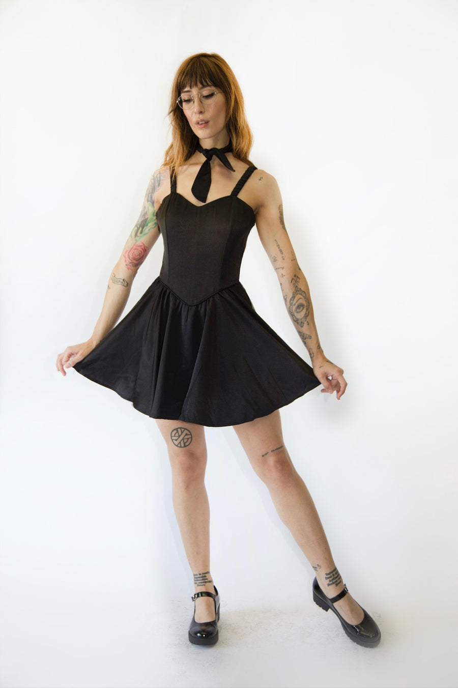 Ice Skating Dress Black