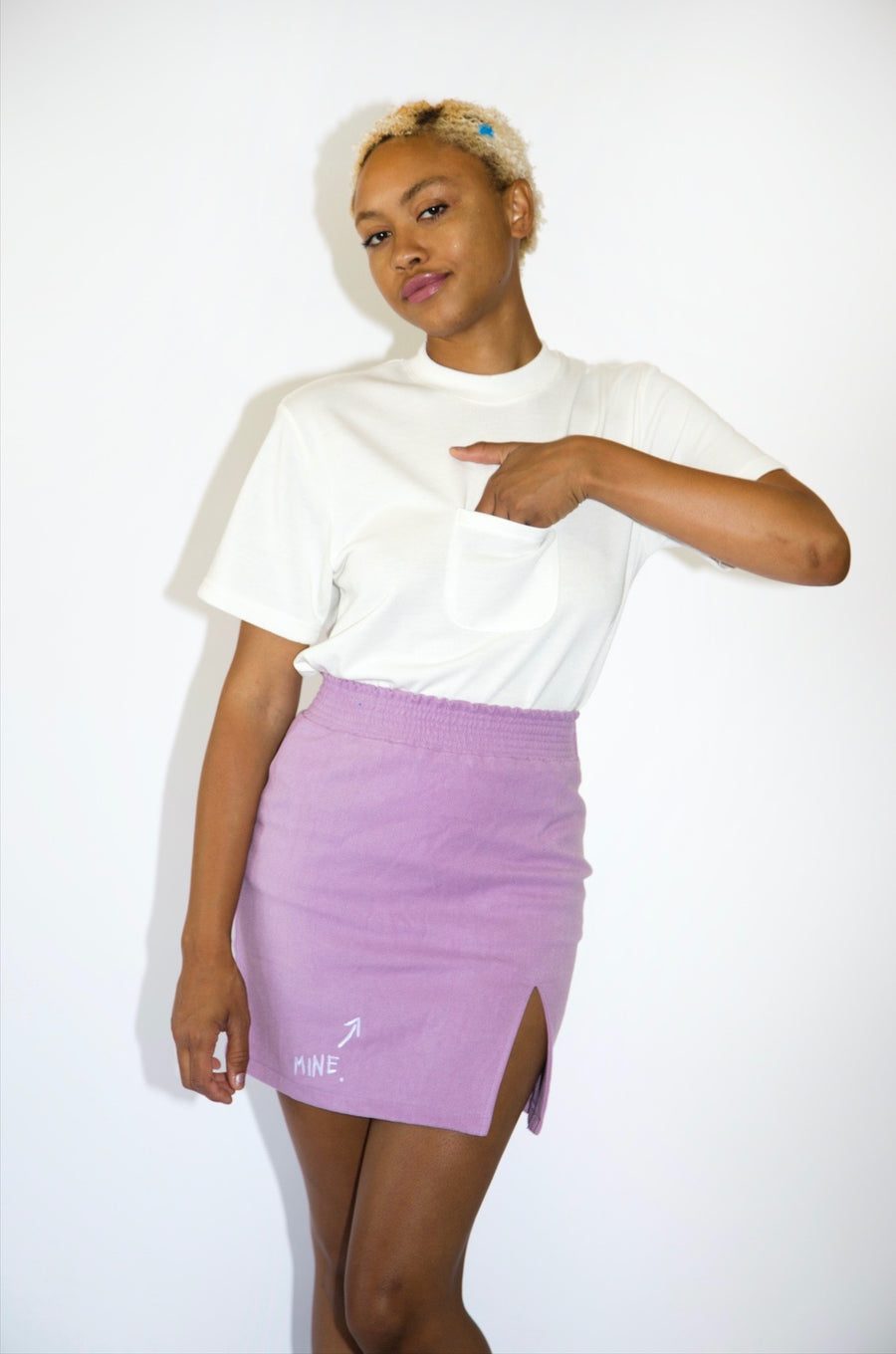 Unisex White Pocket T-shirt