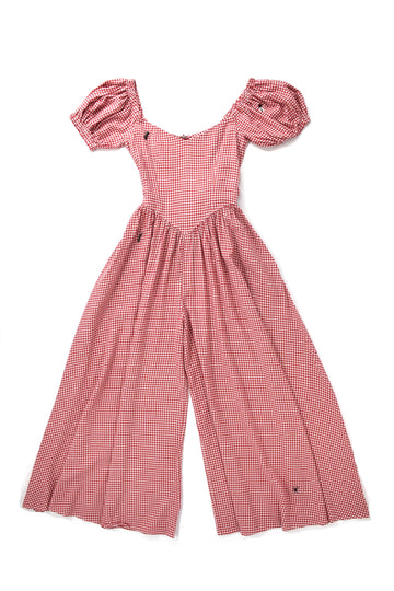 2 left- I love Bugs Red Check Jumpsuit