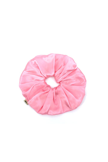 Pink Mulberry Silk Pagaent Scrunchie
