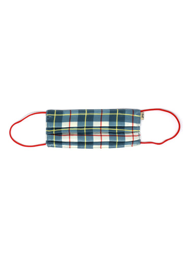 Plaid Satin Mask
