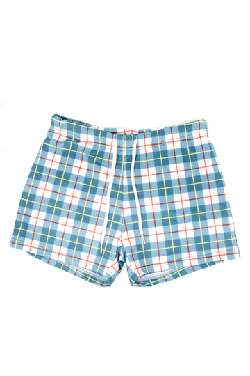 Plaid Swim Shorts