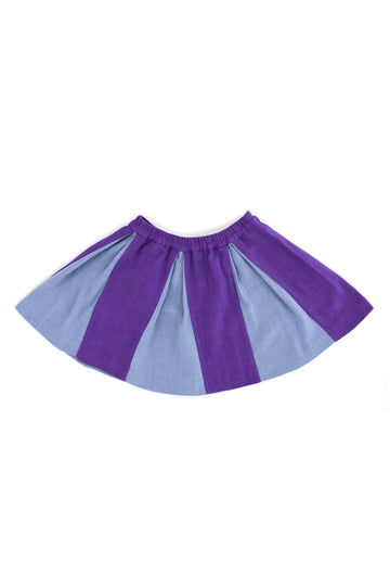 Purple Cheer Linen Skirt
