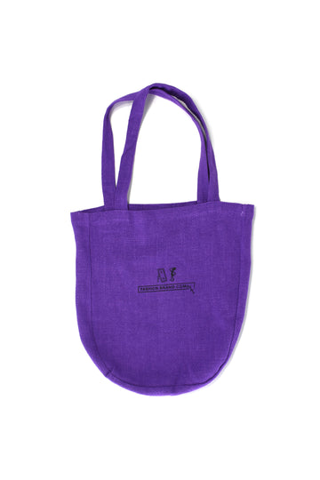 Purple Linen Medium Tote