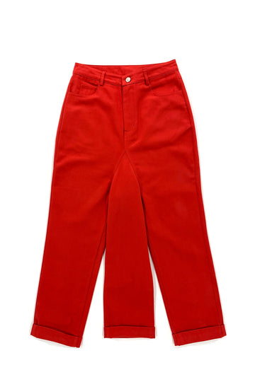 3 Legged Red Denim Pants