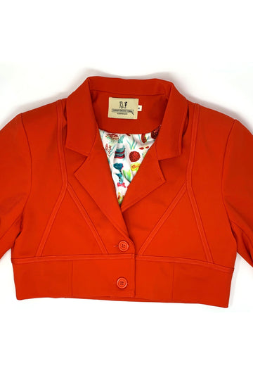 6 left- Red Bra Blazer