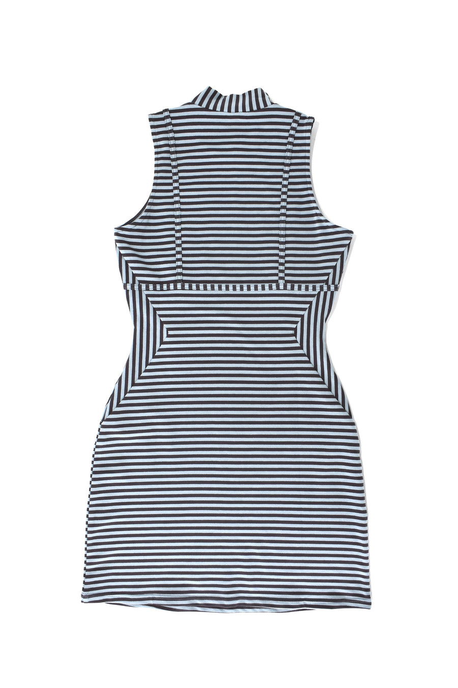 Blue striped Illusion Dress