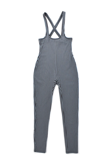Striped Suspender Leggings