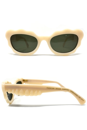 Teeth Sunglasses in Bone