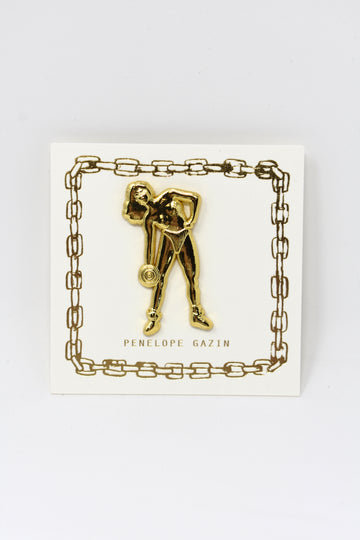 Strong Girl Lapel Pin