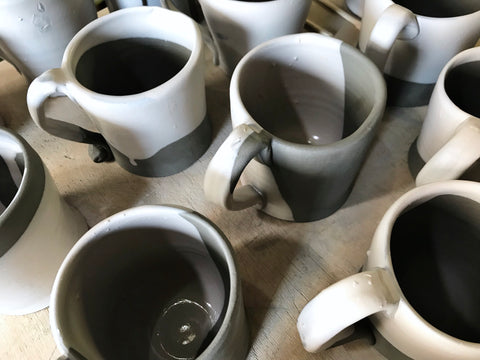 pottery mugs made in italy