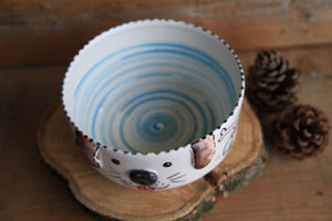 Dog bowl | customized dog name | Trilli line
