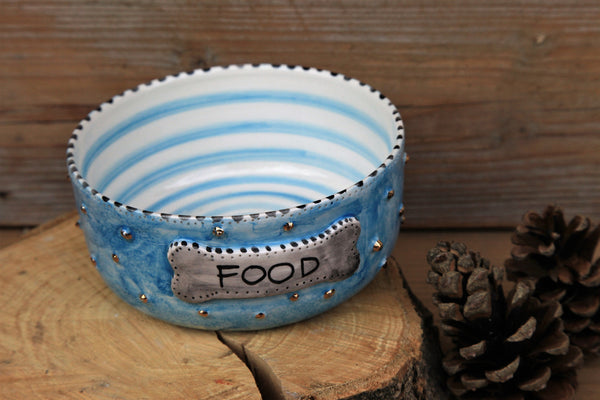 handmade ceramic pet bowl