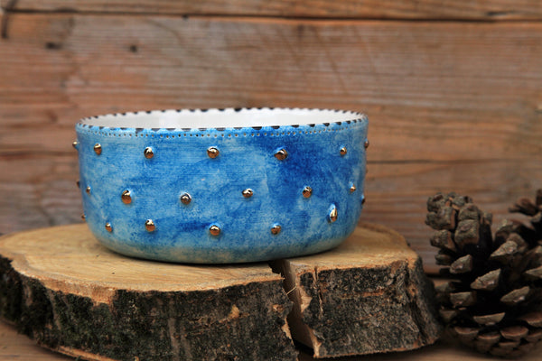 Turquoise dog bowl | personalized dog name | FREE SHIPPING
