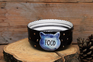 handmade personalized cat bowl