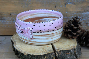 Pink dog bowl | personalized dog name | Diana line