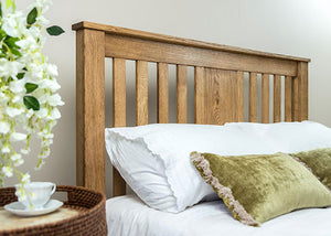 Rustic Chunky solid Oak wooden King Size Bed