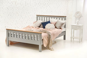 Gabias solid oak wood double bed