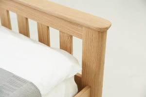 Lyon Solid Oak Bed 5ft - King size