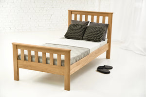 Lyon Solid Oak Bed 3ft - Single Guest