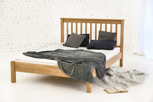 rennes solid oak wood king size bed