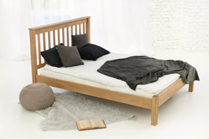 rennes solid oak wood double bed