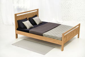 Rossano Solid Oak Bed 4ft6 - Double