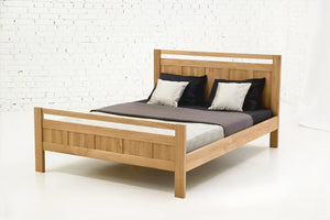 Oak Double Bed - Rossano made from solid wood