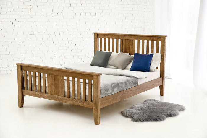 Rustic Solid Oak Bed 5ft - King Size