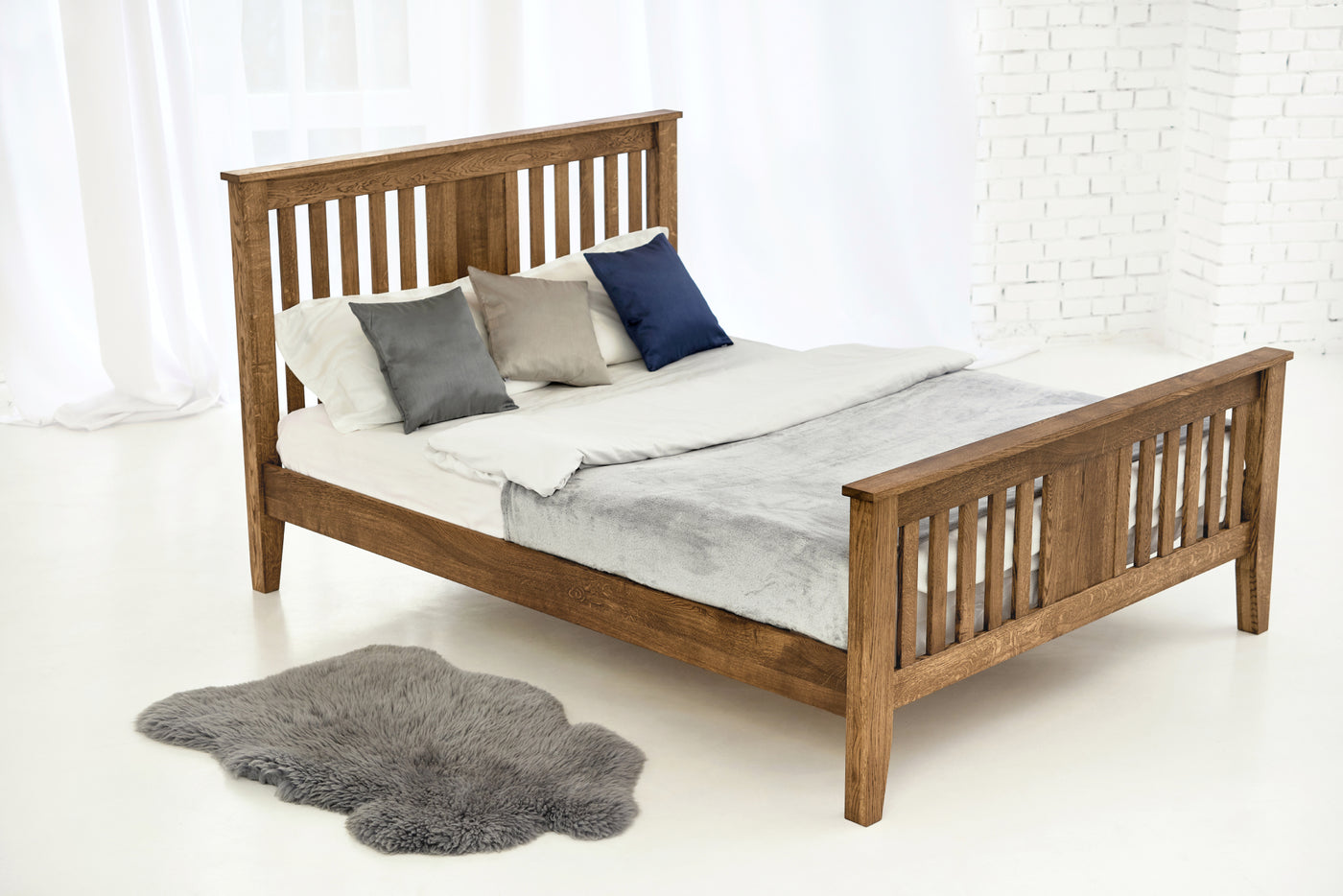 the best attitude 0e3b2 40495 Rustic Solid Oak Bed 4ft6 - Double