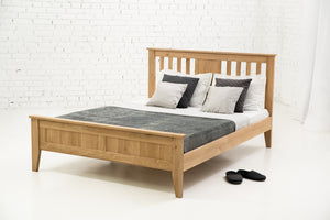 Oak Double Bed - Torronto made from Solid Oak
