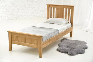 Toronto Solid Oak Bed 3ft - Single Guest Bed
