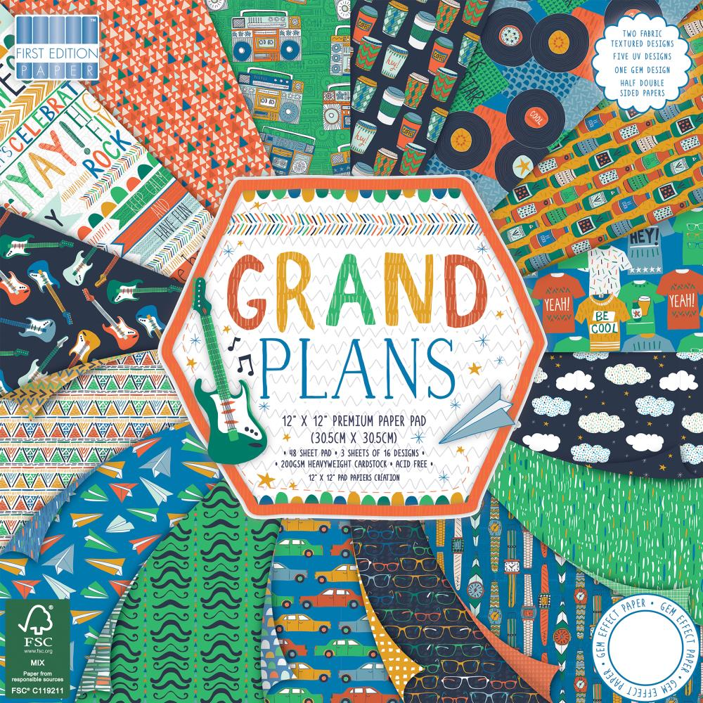 Stack 12x12 papeles- Grand plans