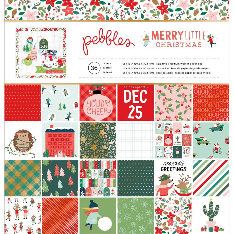 Stack papeles 12x12- Merry Little Christmas