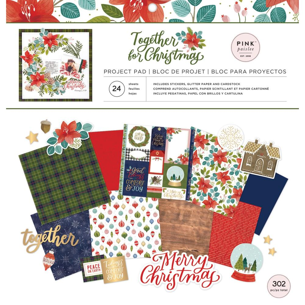 Stack papeles 12x12 y stickers- Together for christmas