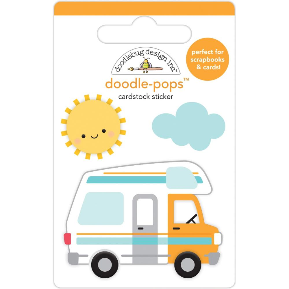Stickers 3D Doodlebug- I heart travel Road trip