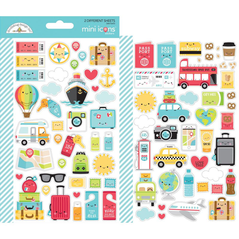 Stickers Doodlebug- I heart travel