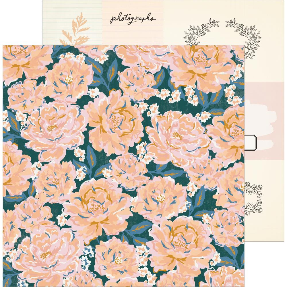 Papel 12x12 doble cara Heritage- Perennial