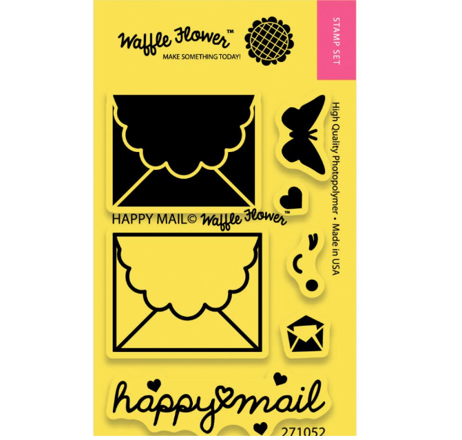 Timbres Waffle flower - Happy mail