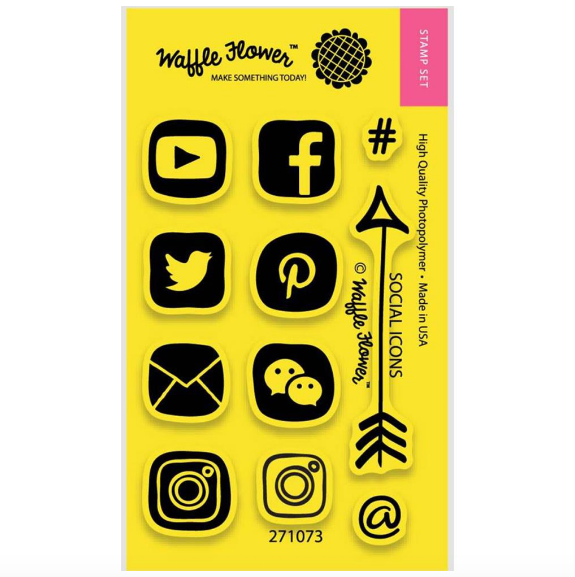 Timbres Waffle flower - Redes sociales