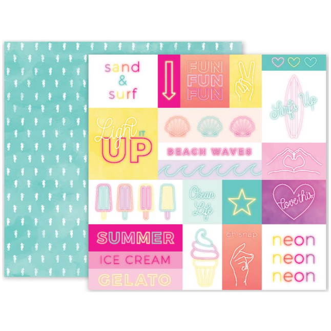 Papel Doble Cara 12x12 - Summer Lights - #12