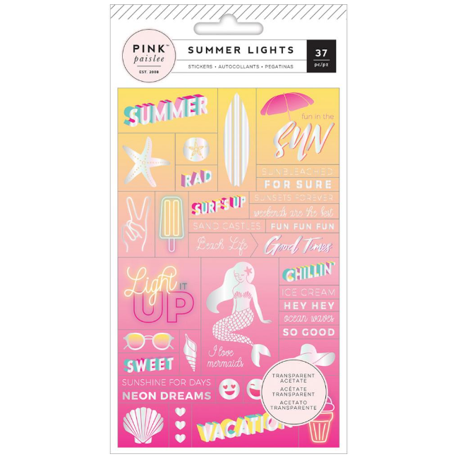 Stickers de acetato Summer Lights