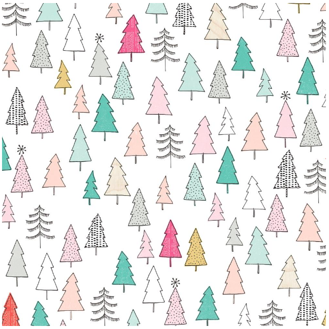 Papel 12x12 - TREES - HOLIDAY & EVENT