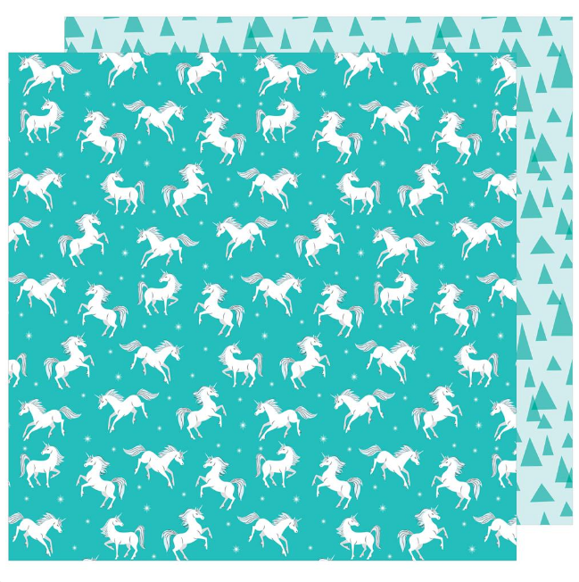 Papel doble cara 12x12 Glitter girl - Run wild
