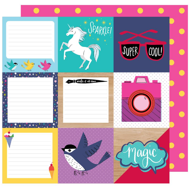 Papel doble cara 12x12 Glitter girl - Be square