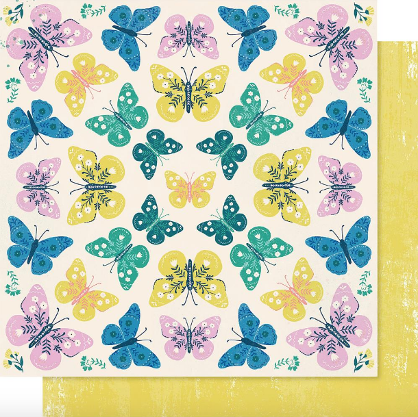 Papel 12x12 Willow Lane - Flutter - Maggie Holmes