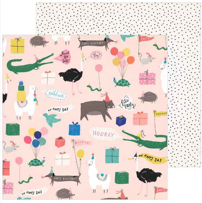 PAPEL12″x12″ - Hooray Collection - Birthday Girl