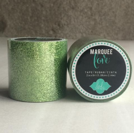 MARQUEE WASHI LIME GREEN GLITTER XL