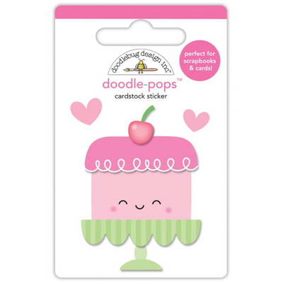 Stickers 3D Sweet cake - Doodlebug